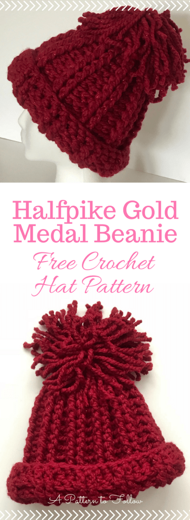 Halfpike Gold Medal Hat in Red, Lion Brand Wool-Ease Thick ...