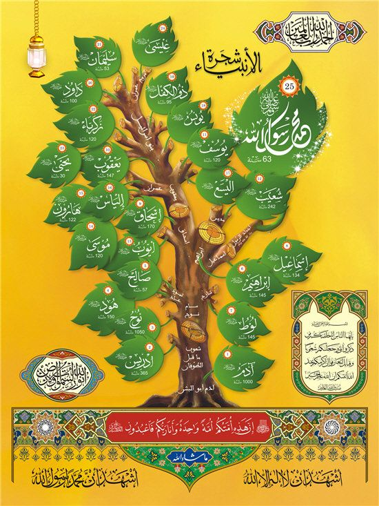 Desertrose شجرة الأنبياء والرسل Islamic Art Islamic Calligraphy Islamic Caligraphy