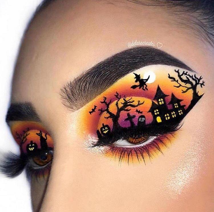 Pin by Tristen P on Makeup | Halloween eye makeup ...