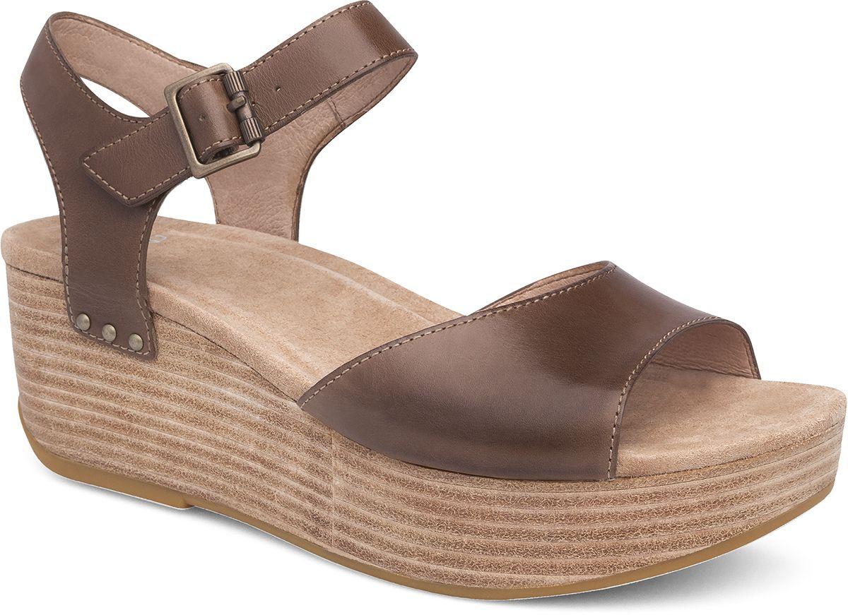 4780fec19d26 Silvie - Platform sandal in walnut brown!