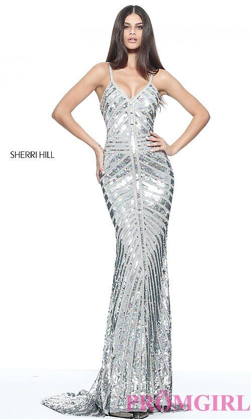 Sherri Hill Sequin Silver Prom Dress | Prom 2017 | Pinterest ...