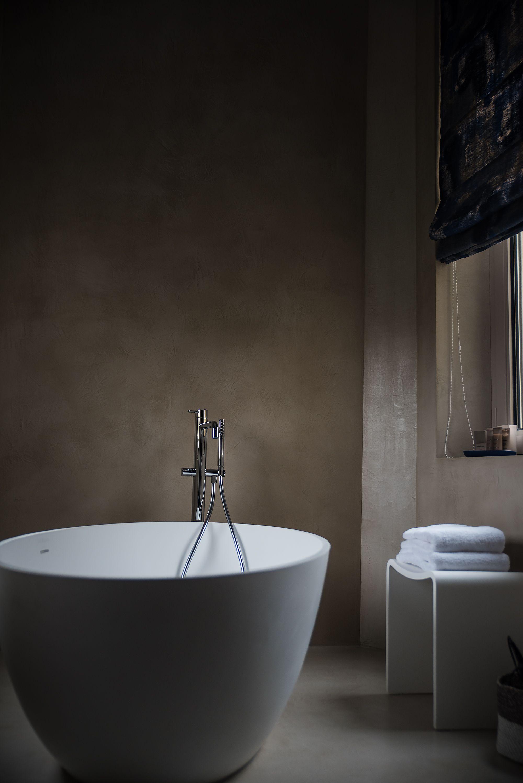 béton ciré couleur grège (mettre o carré) | salles de bains en béton