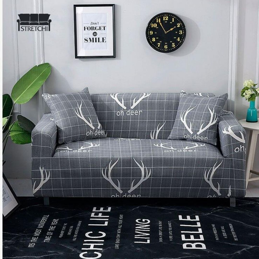 Elastic Sofa Cover L Shaped Living Room Combination Couch Cover Sofa Covers Printed Sofa Chair Covers Slipcover Living room chaise lounge covers