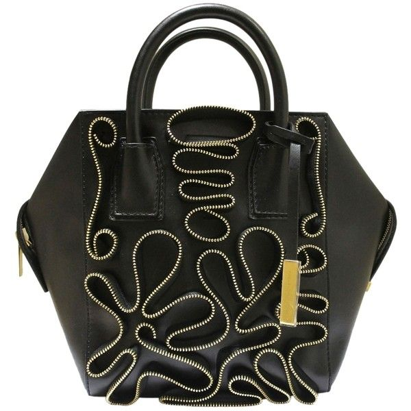 e8127e1ef4ac Pre-owned Stella Mccartney Cavendish Mini Boston Zip Black Tote Bag  ( 1