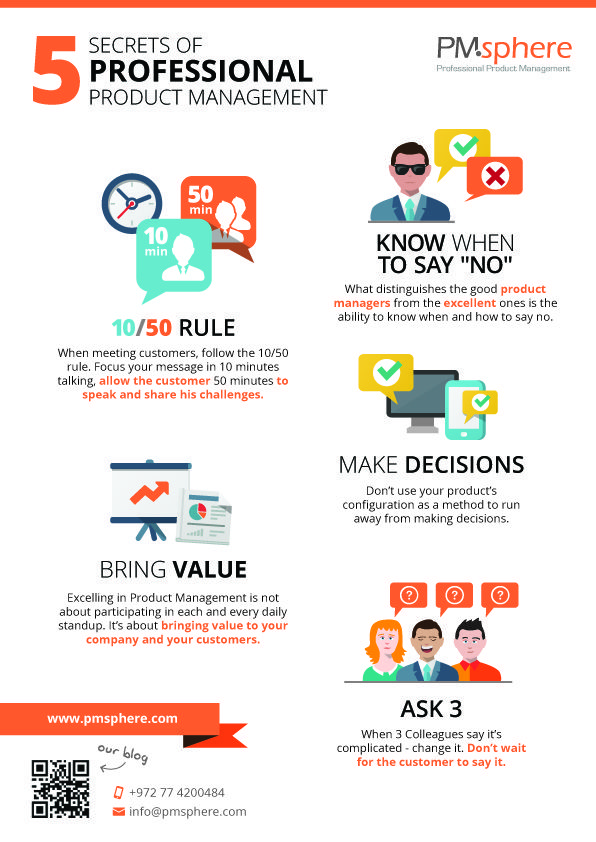 Secrets of professional product management #infographic