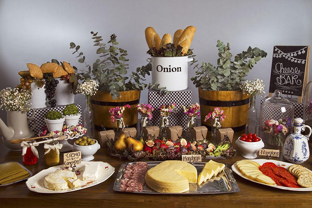 Mesa de quesos carnes fr as dulcemielevents eventos - Mesa de quesos para bodas ...