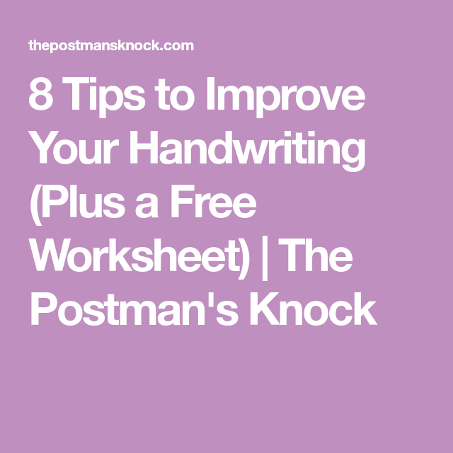 8 Tips to Improve Your Handwriting Plus a Free Worksheet – Improve Handwriting Worksheets