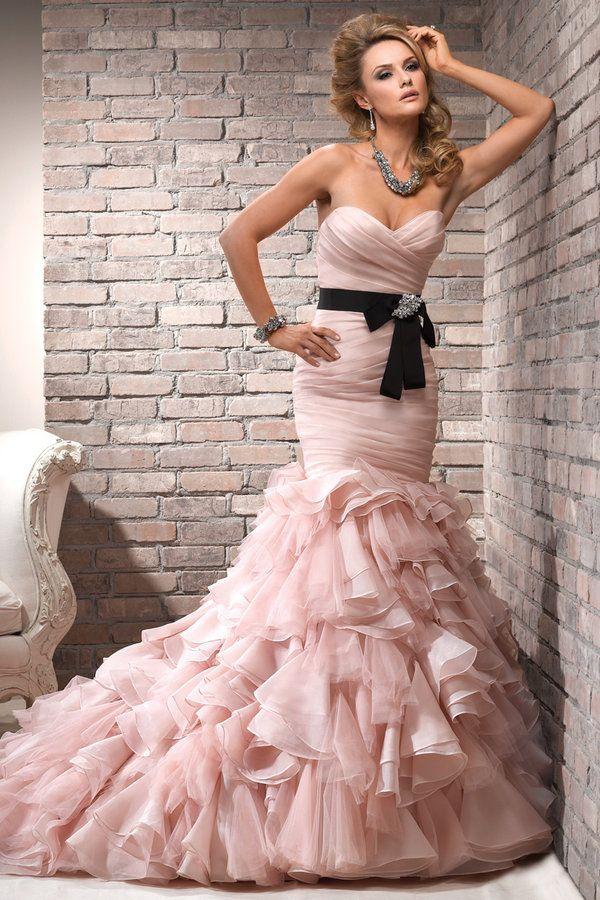 Vestidos de novia rosa palo | Vestidos | Pinterest | Vestidos de ...