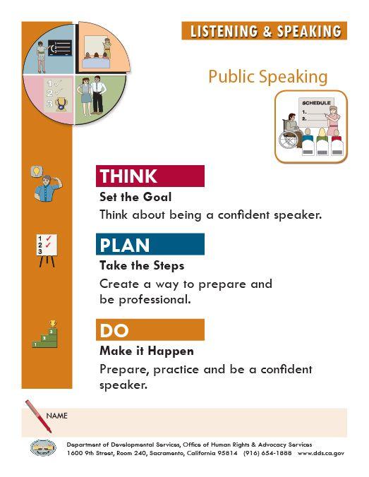 public speaking worksheets