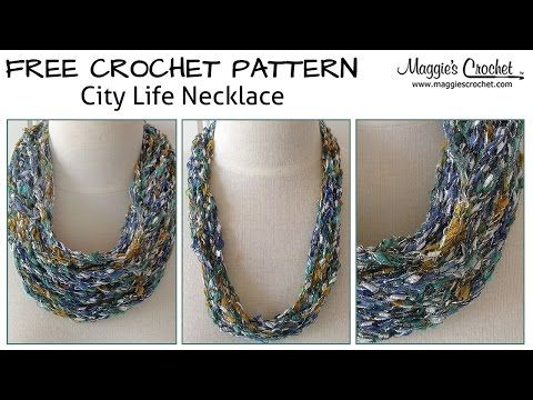 City Life Necklace Free Crochet Pattern - Right Handed - YouTube ...