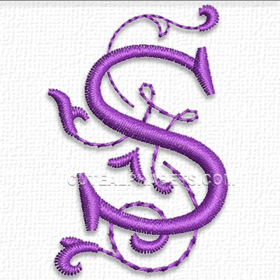 Letter S free on 5-3-15 from cute alphabets | Embroidery