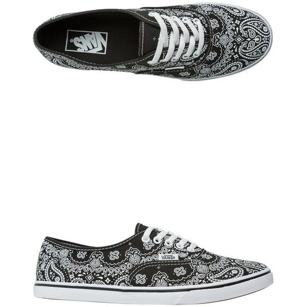 Vans Bandana Authentic Lo Pro Shoe ($50) ❤ liked on