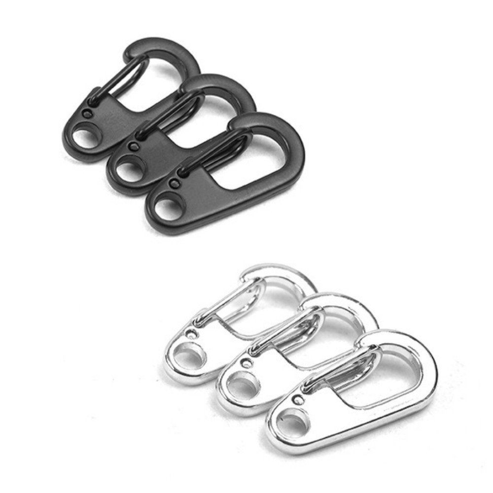 Hiking Carabiner Hook Stainless Steel Keychain Buckle Release Keyring LA