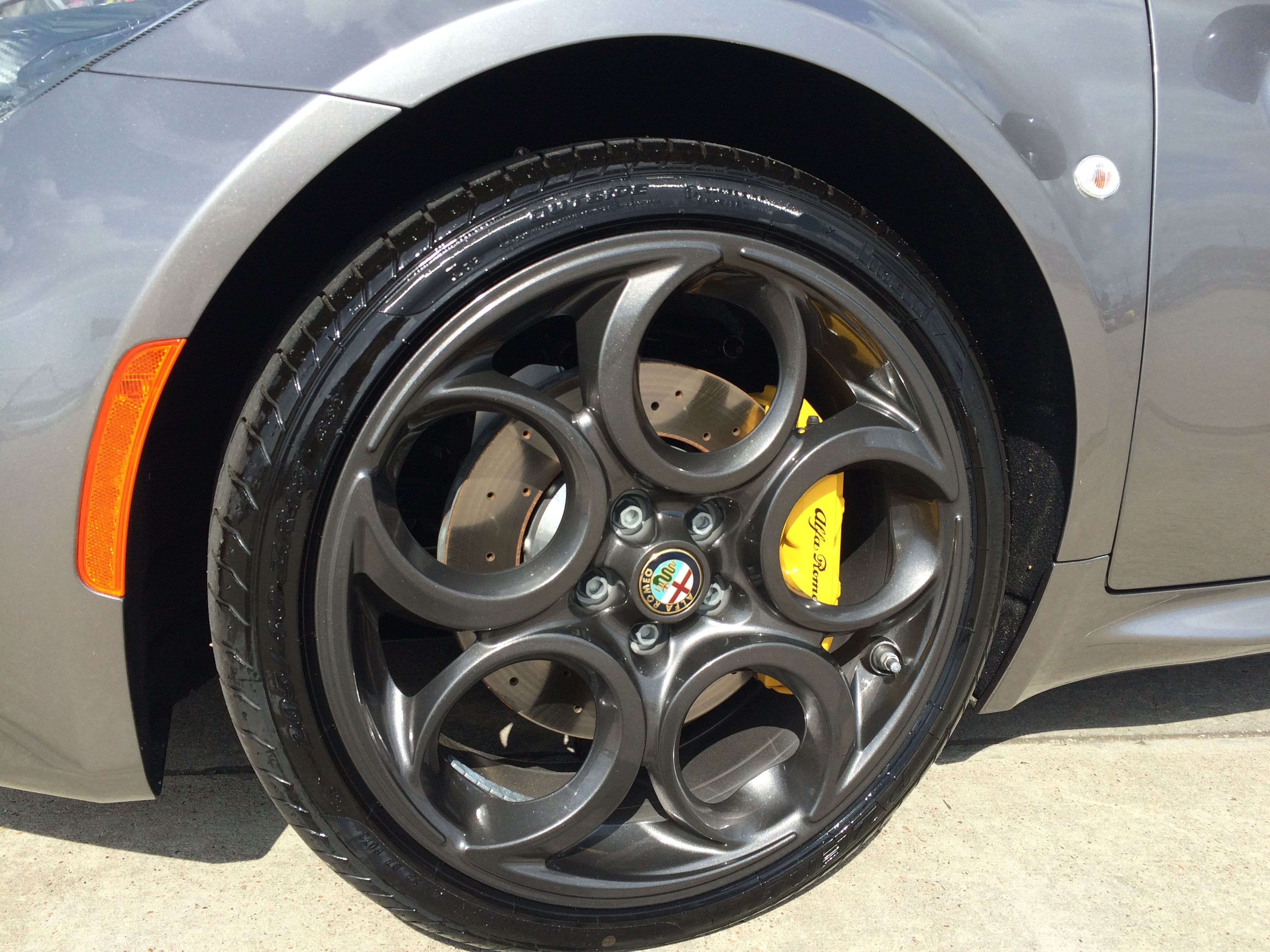 4C Wheels With Yellow Calipers
