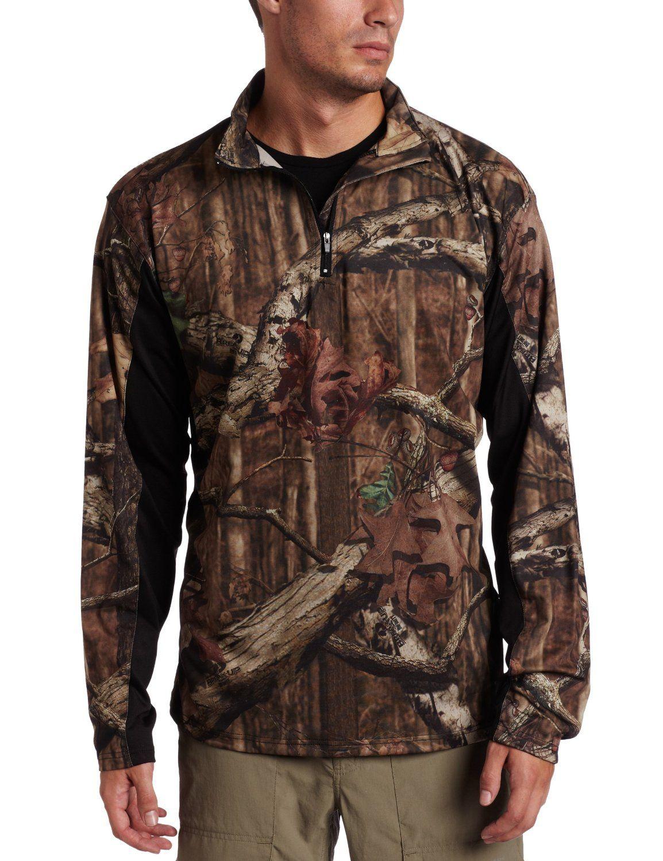 80a09fc8c9e5e Yukon Gear Men s 1 4 Zip Long Sleeve Pullover in Mossy Oak Break-Up Infinity