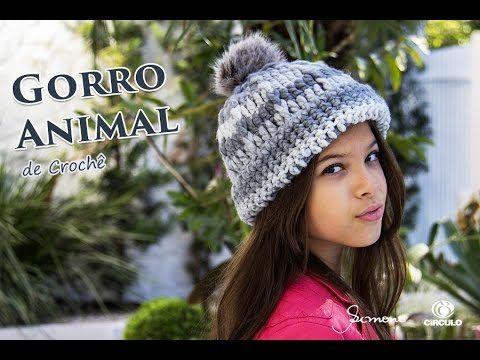 Gorro de Crochê - Professora Simone - Gorro Fácil Animal Círculo S A -  YouTube ec3e88c446c