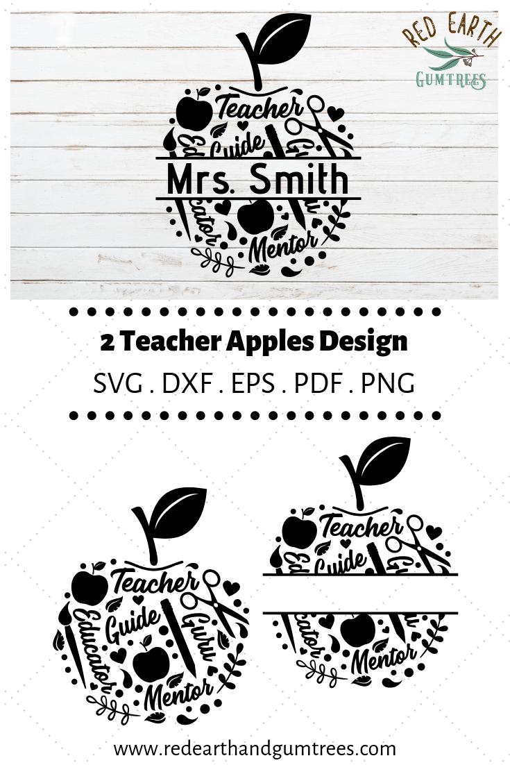 Back to school split monogram apple frame, teacher split monogram frame, teacher's