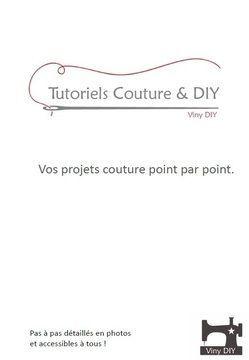 Couture et DIY - Livre PDF + 60 Tutoriels en 1 fichier - Patrons de couture chez Makerist