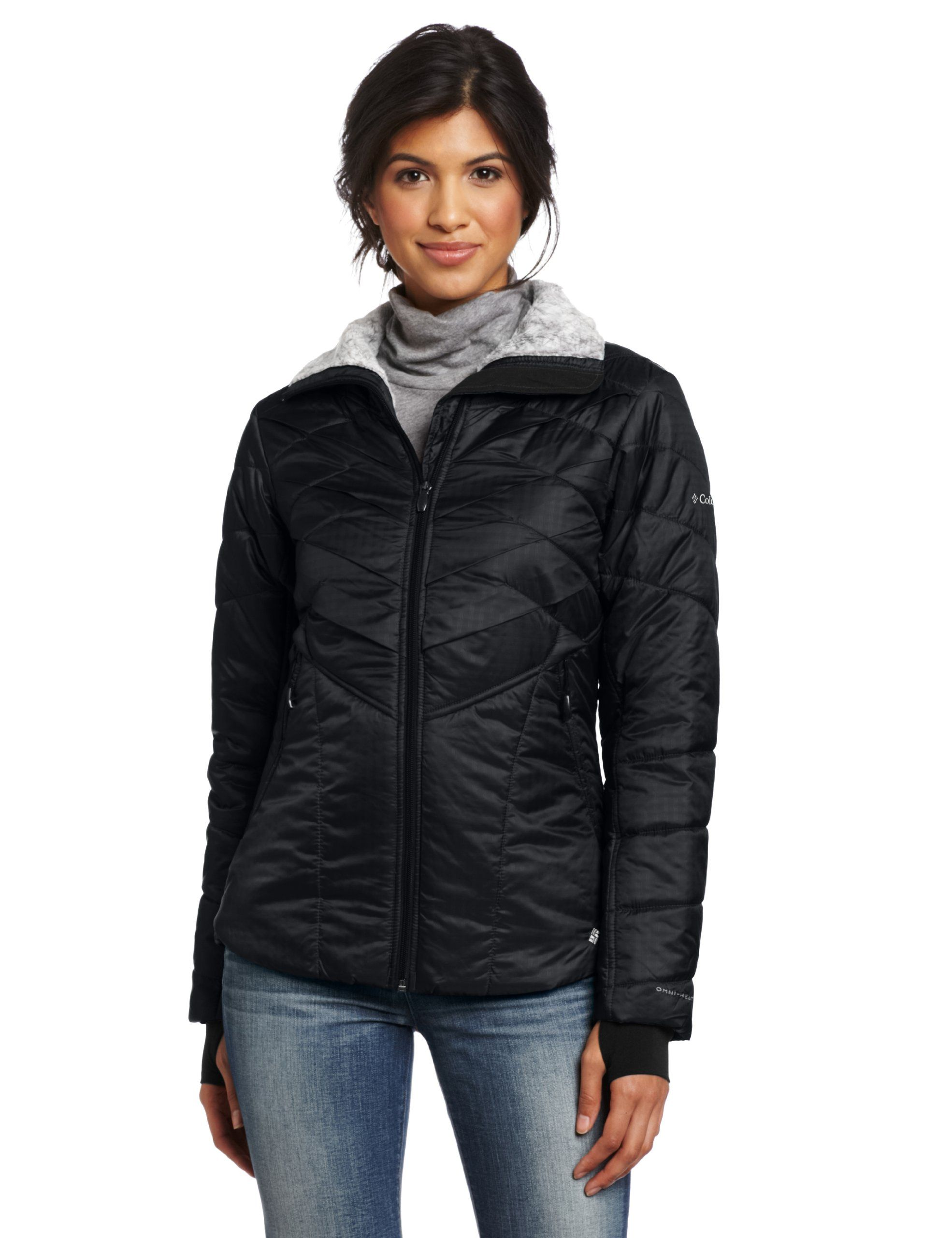 58063774d Columbia Women's Kaleidaslope II Jacket, Black, X-Large. Omni-Heat thermal  reflective and insulated. 80gsm 3-point Interchange System.
