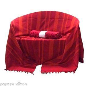 Plaid tenture couvre lit jete de canape kerala rouge ebay acheter pinterest tenture for Couvre canape rouge