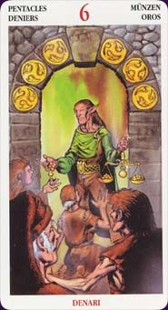 Compare Images Of The Six Of Pentacles Card Six Pentacles