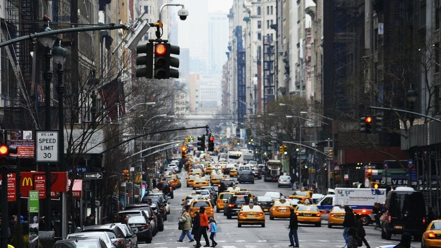 road traffic new york city usa wallpaper download hd size