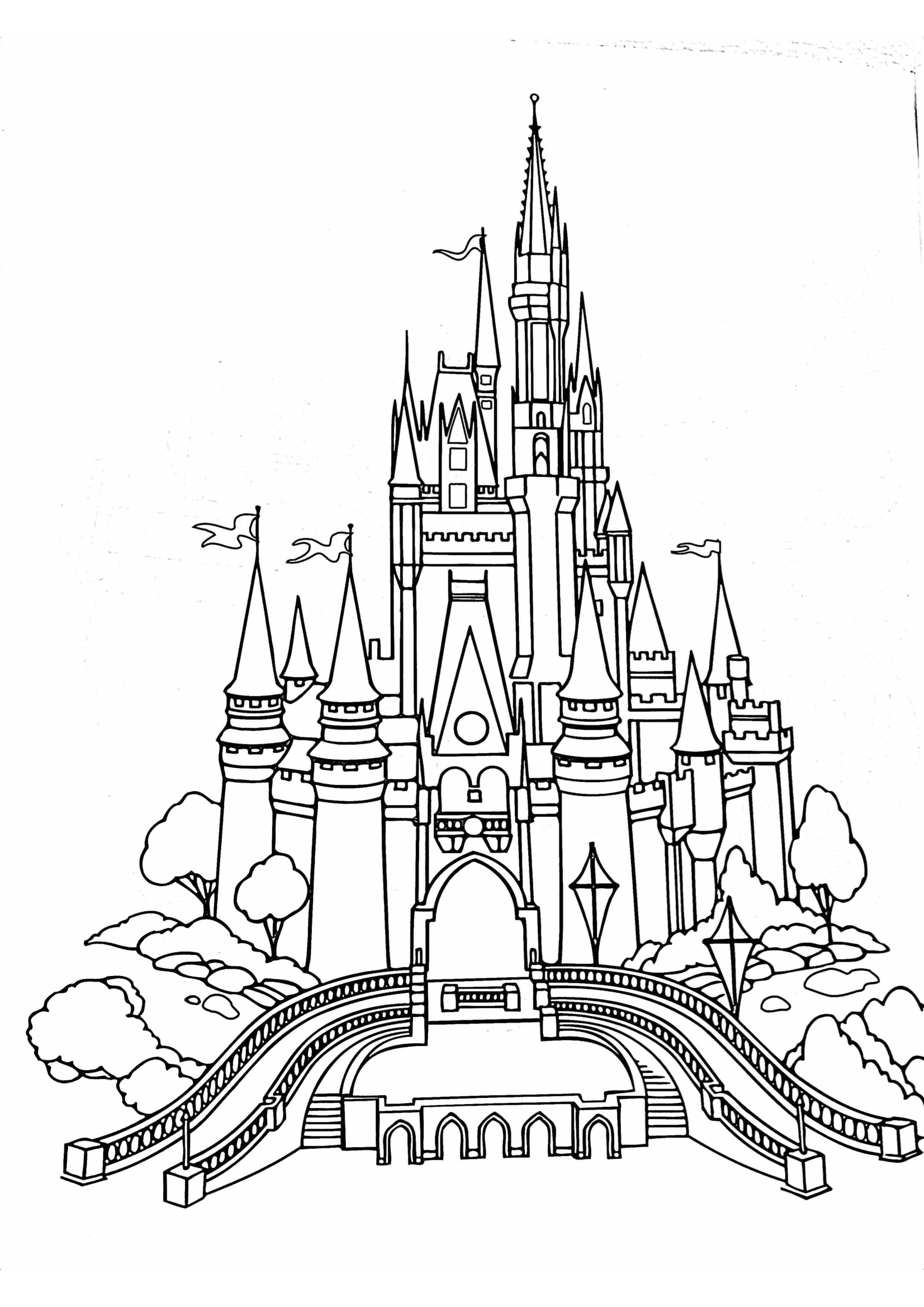 How To Rock A Disney Day At Home Gone With The Twins Castle Coloring Page Disney Activities Disney Castle Drawing