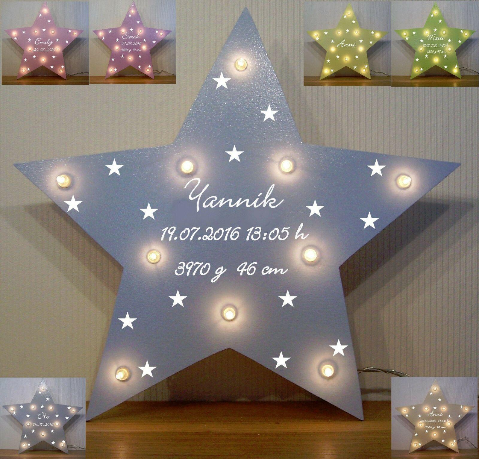 Schlummerlicht Sterne Lampe Geschenk Baby Geburt Taufe Madchen