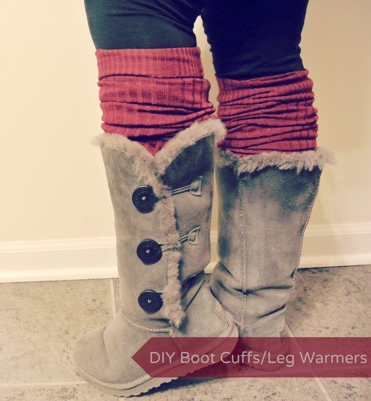 DIY boot cuffs/leg warmers tutorial!!! so simple! <3