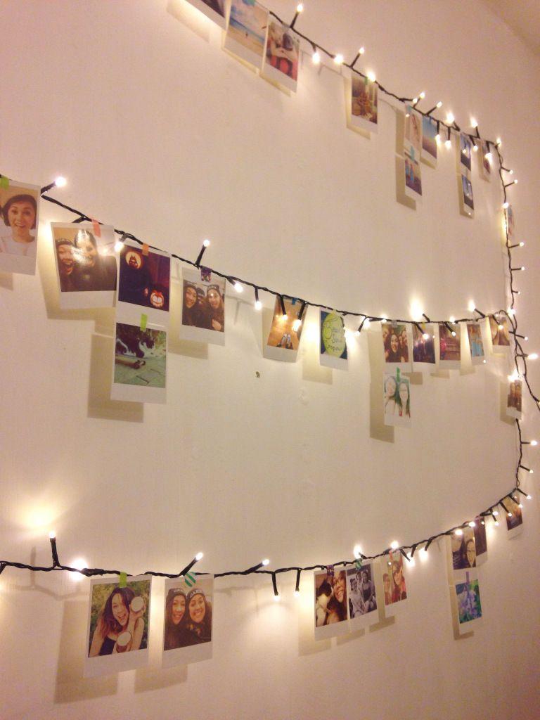 Polaroid Wall Diy Fairy Lights Bedroom Fairy Lights Fairy Room