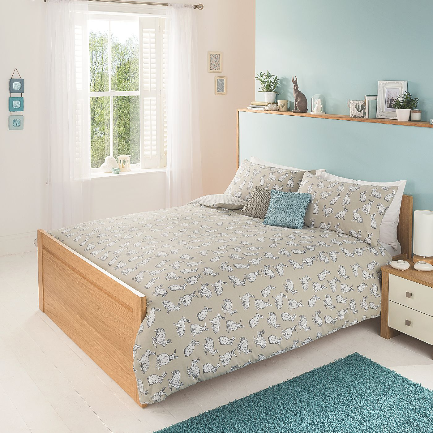 George Home Mini Hares Duvet Range Covers Asda Direct