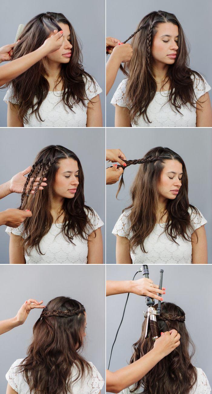 1001 Ideen Und Anleitungen Fur Moderne Frisuren Mit Locken Locken Frisuren Hippie Frisur Locken Machen