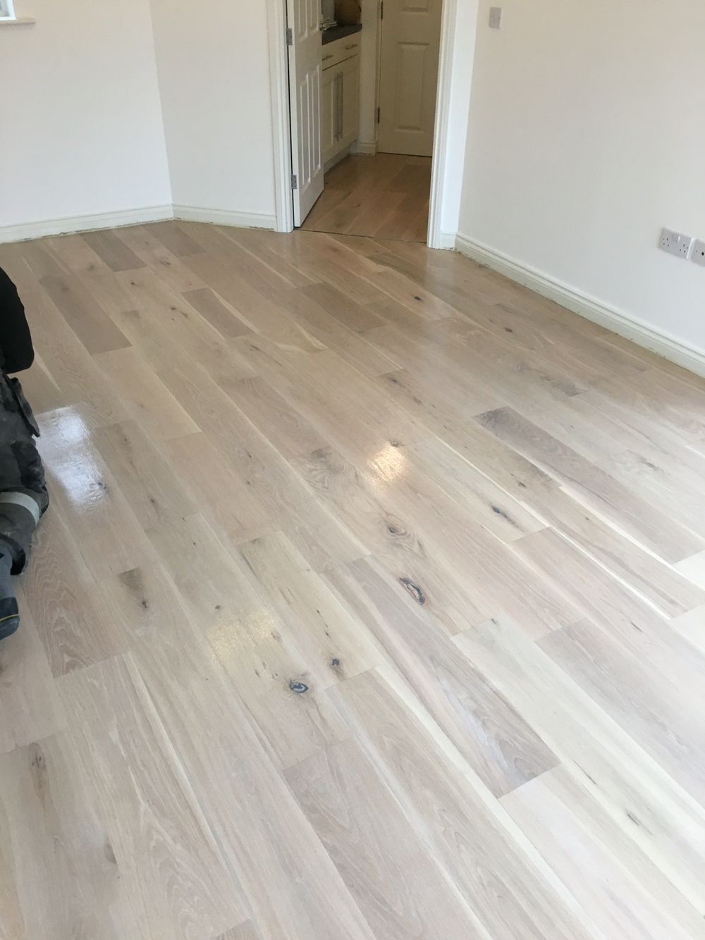 Oak flooring we have restored and finished using white White washed wood flooring
