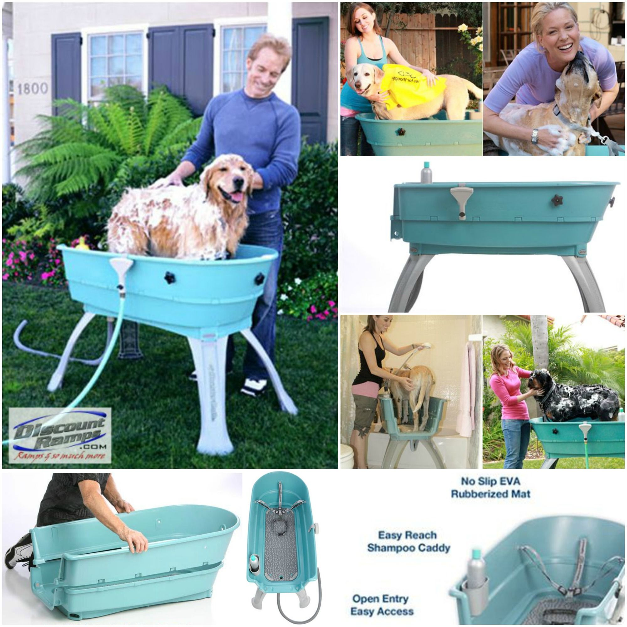 Booster Bath Dog Tub From Discount Ramps Make Bath Time Fun Time