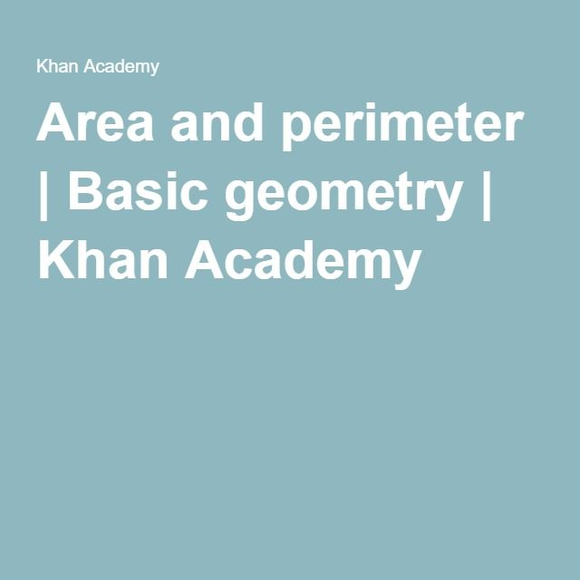 Area and perimeter basic geometry khan academy area find this pin and more on area perimeter volume surface area ccuart Gallery