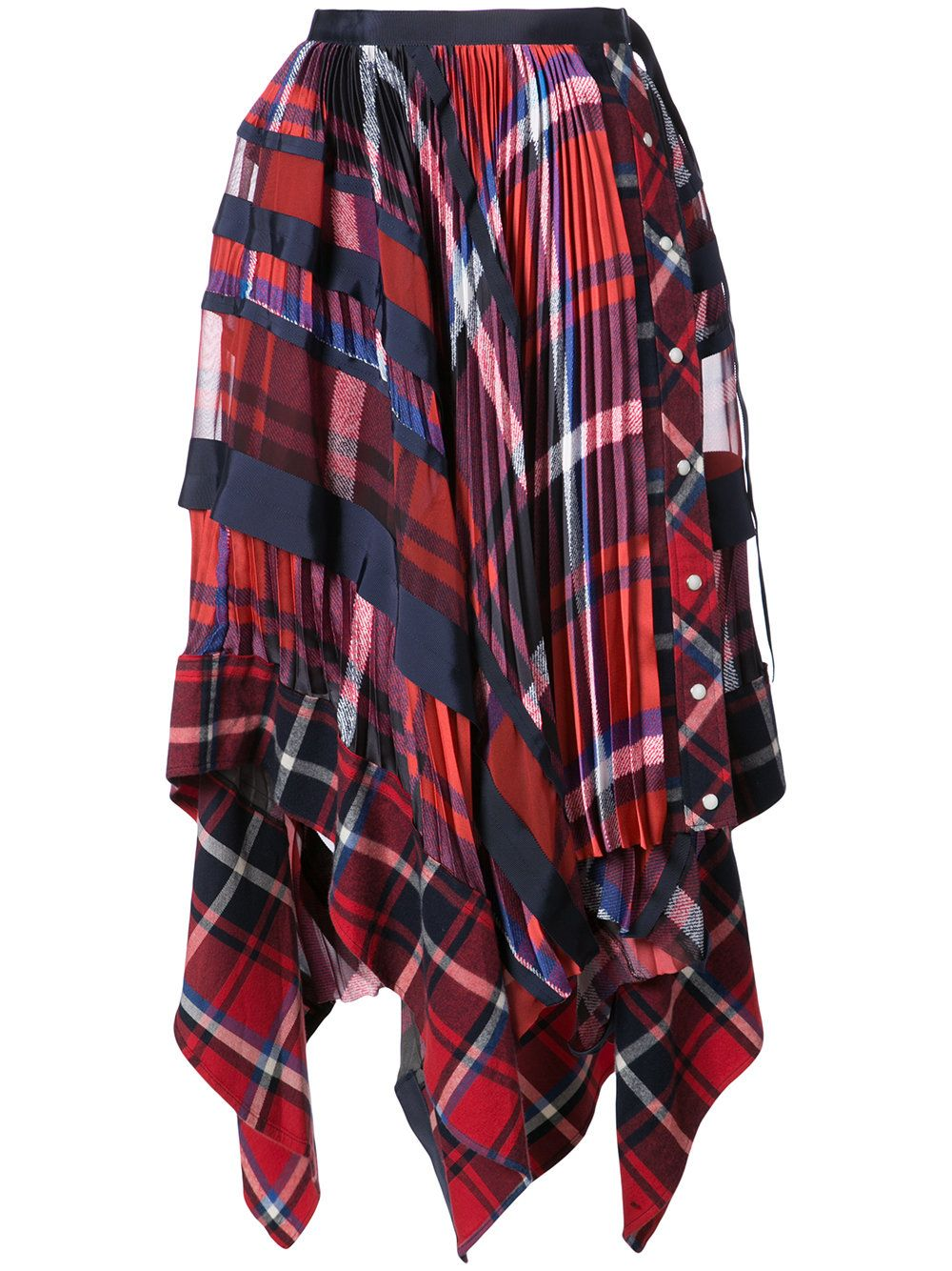 6516ec97f0 SACAI Handkerchief draped tartan skirt / Designer Style ID: 1703464 Colour:  961