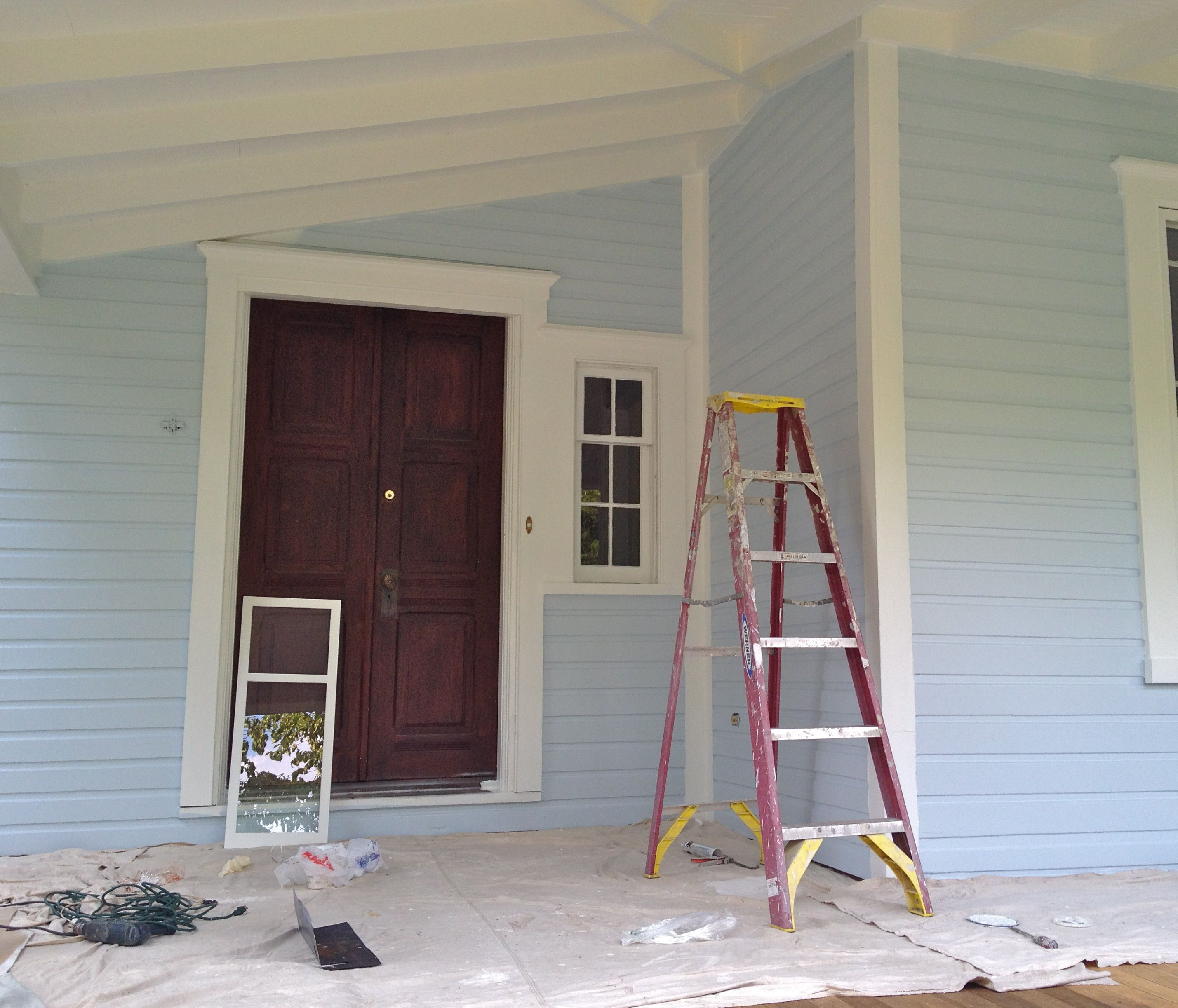 Old Victorian house red front door white trim crown molding double front & Front Porch - Part 2 of 3 u2013 where we paint stuff and then paint ... pezcame.com