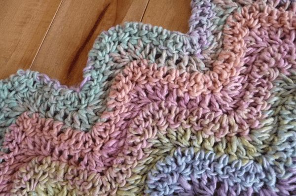 Baby Lazy Wave Crochet Afghan
