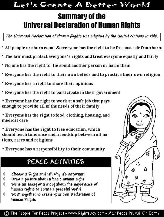 Universal Declaration of Human Rights -Let's Create A Better ...