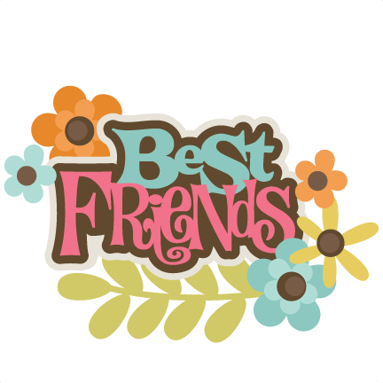 Best Friends SVG scrapbook title best friends svg file for scrapbooking friends svg cut files
