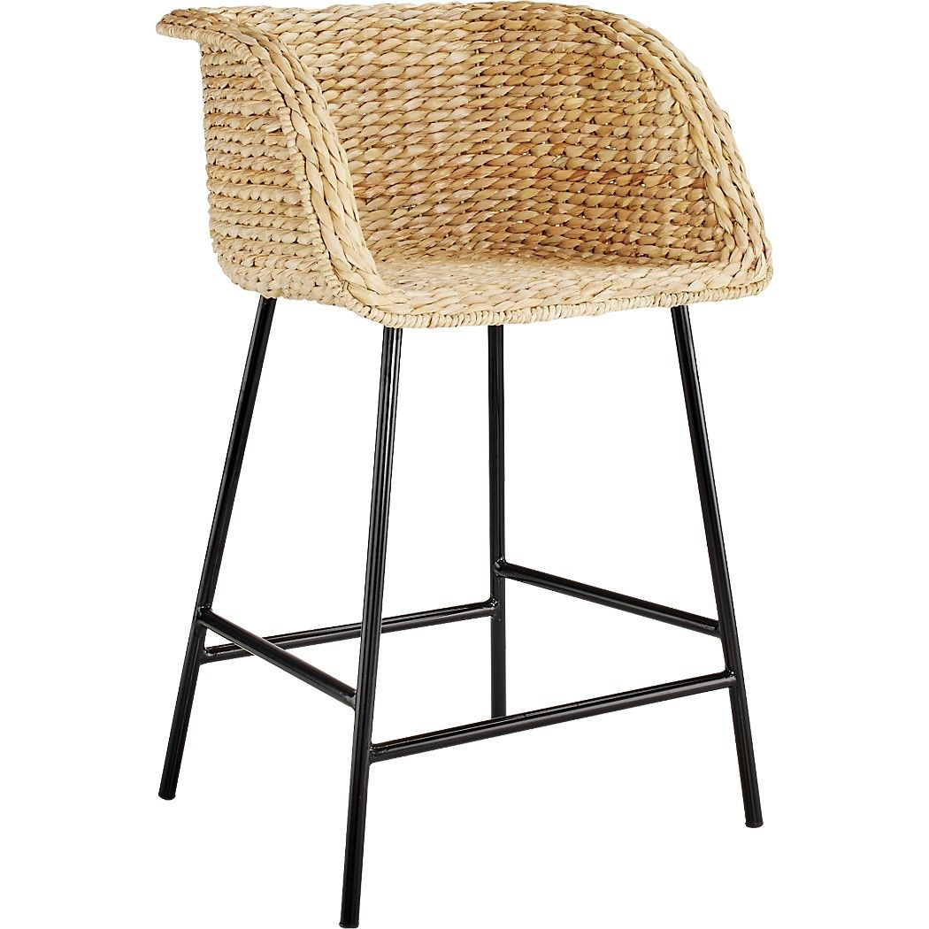 Shop Silas Seagrass Bar Stool 30 Natural Seagrass Forms Solid