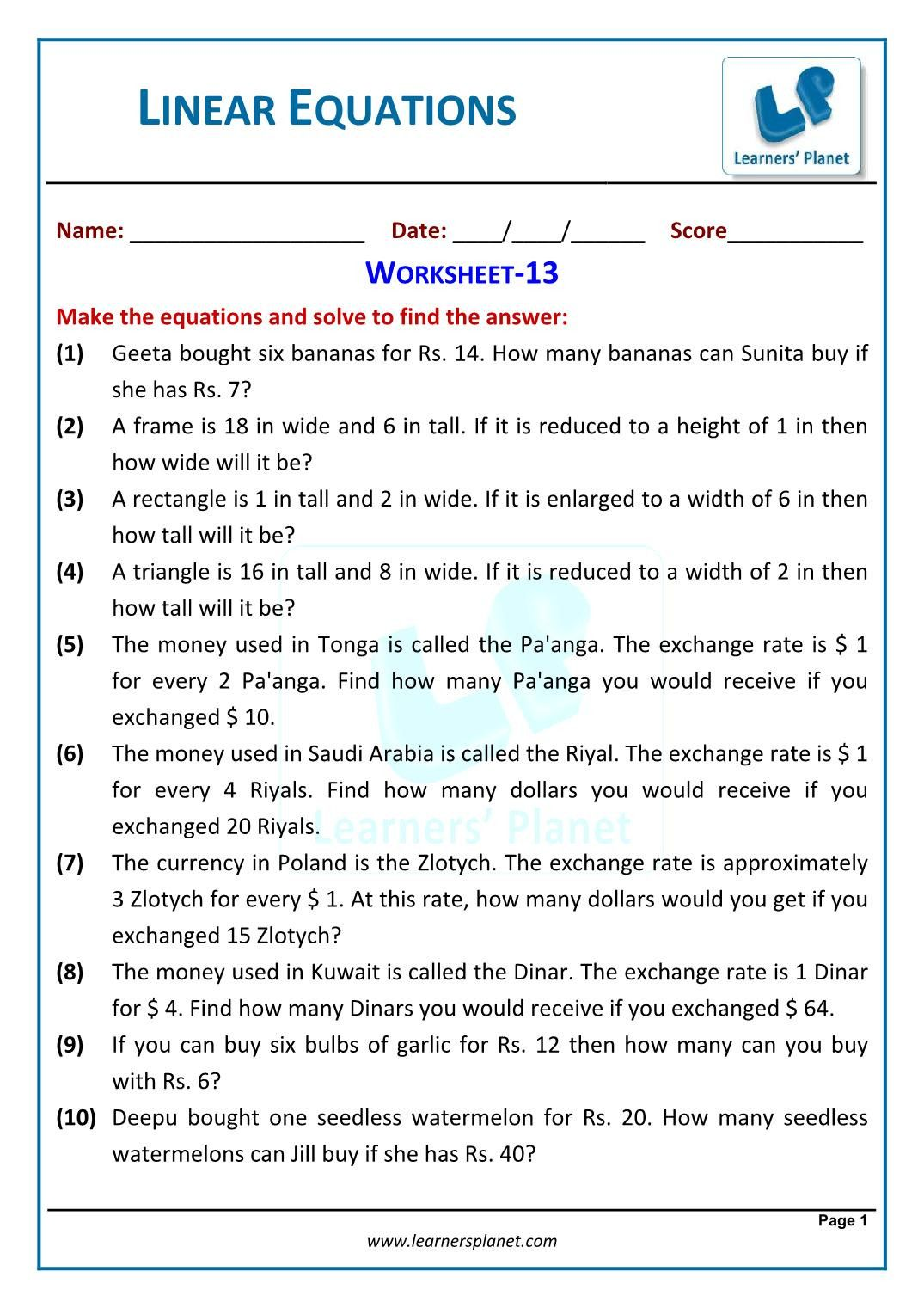 Solving Equations Word Problems Worksheet In 2020 Word Problem Worksheets Writing Algebraic Expressions Inequality Word Problems