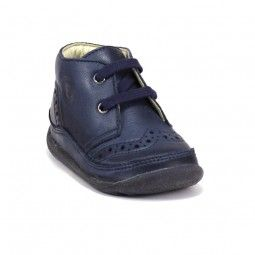 Bottines mixtes en cuir Falcotto by Naturino 334 Nappa Navy
