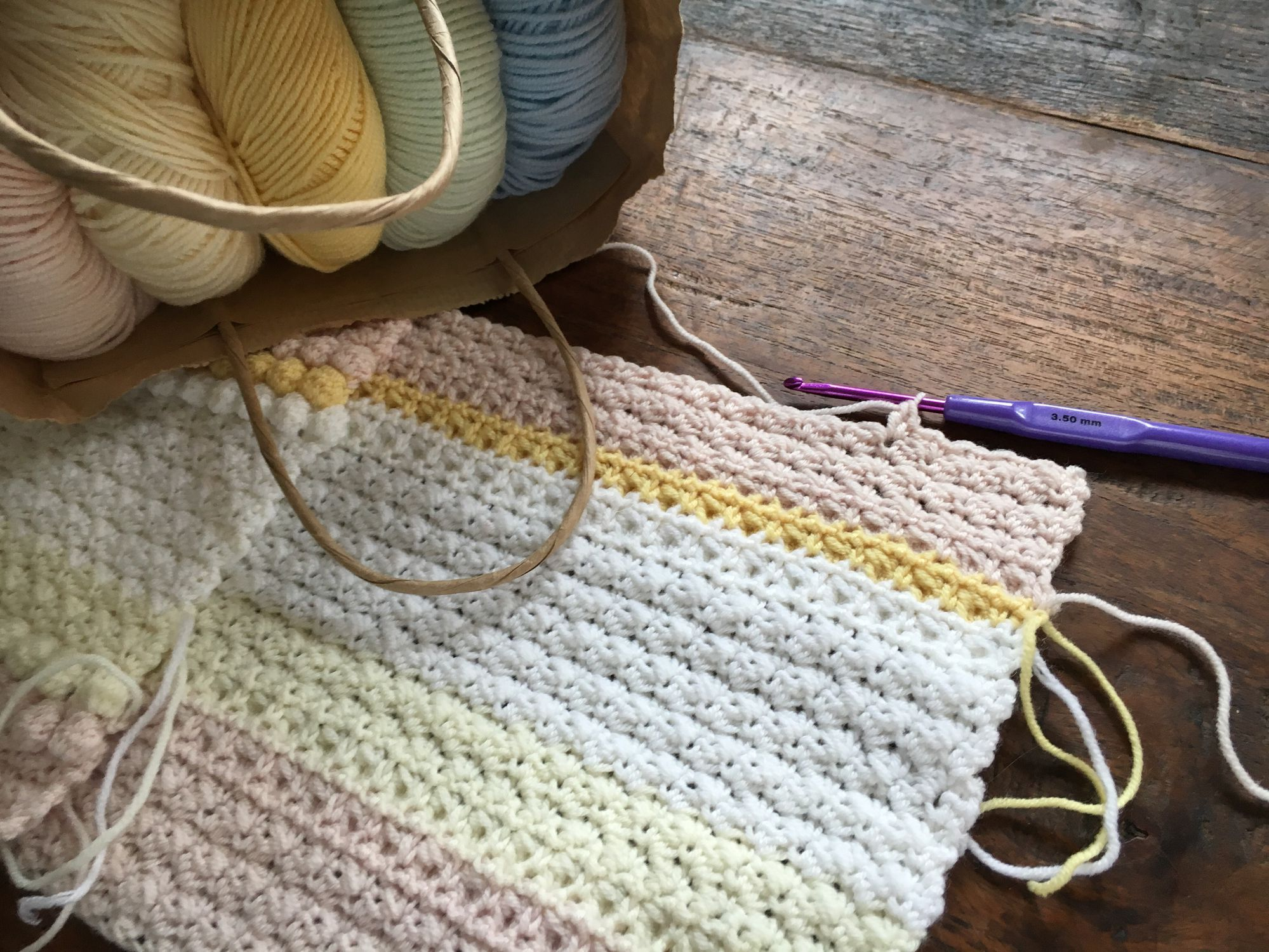 Easy Crochet Pattern for a Moss Stitch Baby Blanket