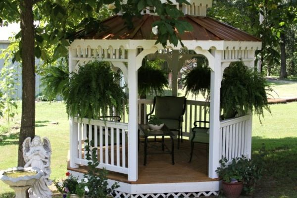 holz pavillon wei e farbe pflanzkasten pavillion garten pinterest garten gartenlaube und. Black Bedroom Furniture Sets. Home Design Ideas