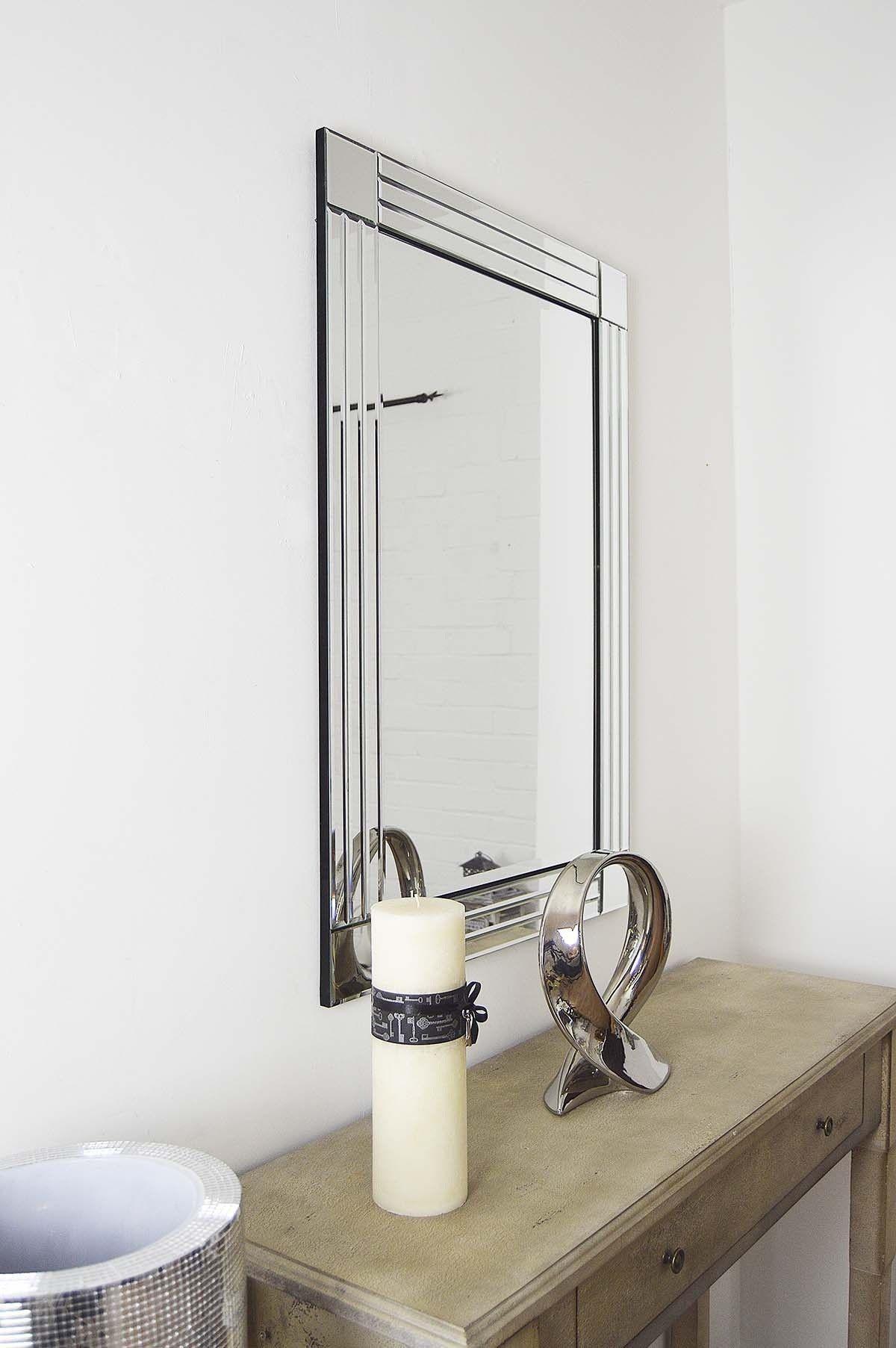 Bevelled Bathroom Mirror 70 Http Wwwmirroroutletcouk Modern Design Silver Bevelled