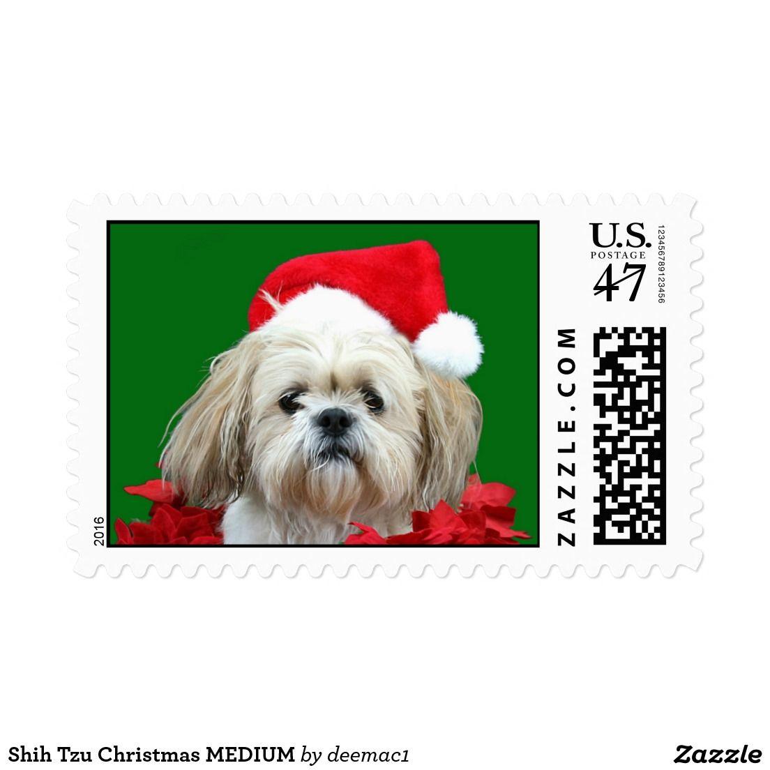 Shih Tzu Christmas MEDIUM Postage | Pinterest