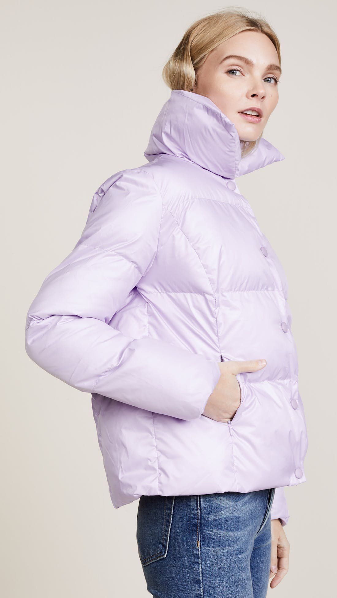 10 Puffer Jackets And Accessories That Won T Make You Look Ridiculous Puffer Coat Outfit Fashion Outerwear Women [ 1950 x 1100 Pixel ]