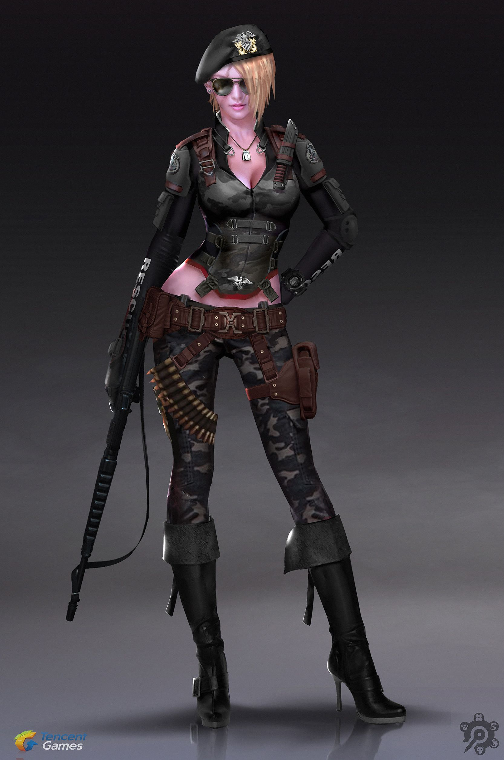 Artstation Female Soldier Concept Art 贰零壹肆 Ares
