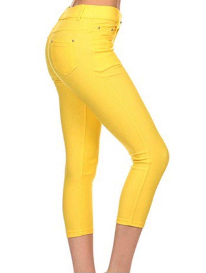 Yellow Capri Jeggings #caprijeggings